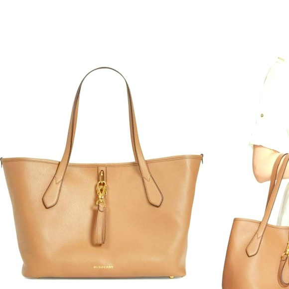 Burberry Handbags - Authentic Burberry Medium Honeybrook Leather Tote eb68b06332